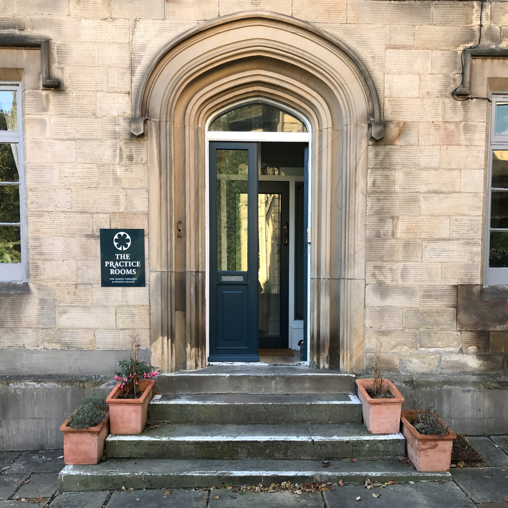 Front entrance of The Practice Rooms, Sheffield